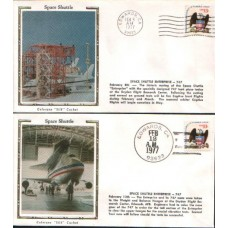 1977 UNITED STATES of AMERICA  10 Shuttle Enterprise Covers