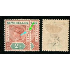 1900 SEYCHELLES QV 2c repaired S MINT.