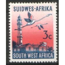1973 SOUTH WEST AFRICA 3c Flamingo & Lighthouse phosph. MNH