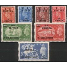 1951 ITALIAN ERITREA BMA set of 7 values VF LMM