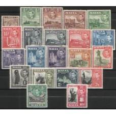 1938 MALTA KGVI complete set MNH