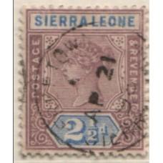 1896 SIERRA LEONE QV 2-1/2d mauve & ultr VFU