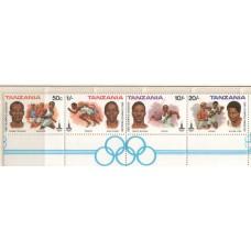 1980 TANZANIA Olympic set MNH