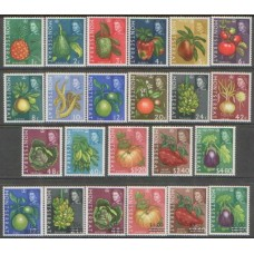 1965 MONTSERRAT Fruit set plus overprint set MNH