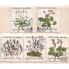1980 DENMARK - FAROE Is Flora set VFU