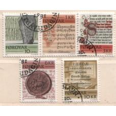 1981 DENMARK - FAROE Is Historic Writing set VFU