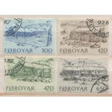 1987 DENMARK - Faroe Is. Old Farm Houses set VFU