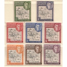 1946 FALKLANDS Is.Dependency  Map set MNH
