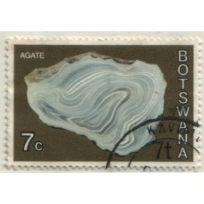 1976 BOTSWANA Overprint 7t at bottom on 7c VFU.