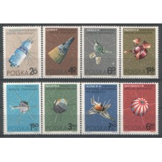 1966 POLAND Space Exploration set MNH