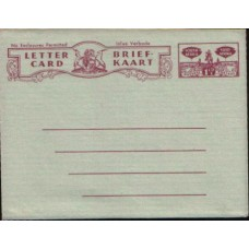 1948 SOUTH AFRICA AERO 1-1/2d Letter Card3 Mint