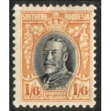 1931 SOUTHERN RHODESIA KGV 1s6d perf 11.5 LMM.