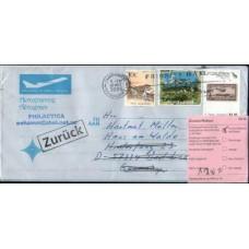 2005 NEW ZEALAND Aerogramme RTS Mail