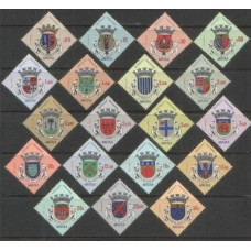 1963 ANGOLA Coat of Arms set MNH