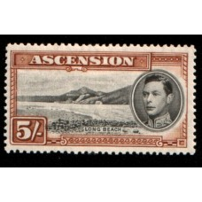 1938 ASCENSION KGVI 5 Sh. perf 13.5 cv£95.00 VF LMM