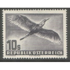 1953 AUSTRIA  Air 10 Shilling grey Heron superb MNH
