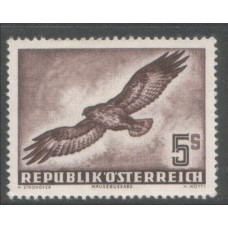 1953 AUSTRIA  Air 5 Shilling Buzzard  superb MNH