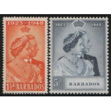 1948 BARBADOS Royal Silver Wedding MNH