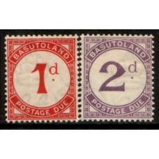 1933 BASUTOLAND 1d & 2d Postage Due SGD1-2 cv£2.55 LMM