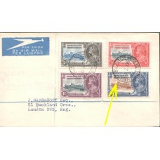 1936 BECHUANALAND KGV Silver Jubilee Cover