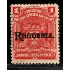 1909 B. S. A. Co. 1d Overprint carmine rose cv£11.00 VF LMM.