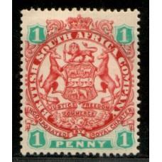 1896 B. S. A. Co. 1d Coat of Arms SG42 cv£14.00 VF LMM.