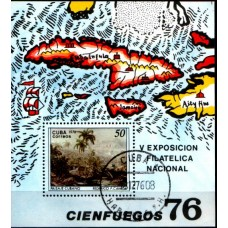 1976 CUBA Landscape - National Philatelic Exhibition MS VFU .