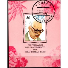 1977 CUBA Botanist Dr. J Tomas Riog Miniature Sheet VFU.