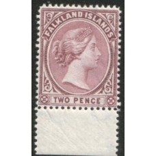 1891 FALKLAND IS. QV 2d VF MNH