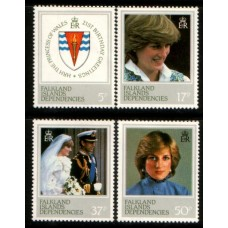1982 FALKLAND Is. DEPENDENCY Diana Princess of Wales set MNH