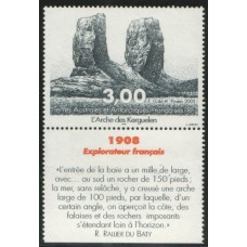 2001 FRENCH ANTARCTIC TERRITORY. Monument R Du Baty MNH
