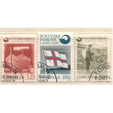 1976 FAROE Is. First Faroe Post Office VFU