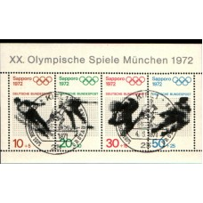 1972 GERMANY Olympic Games München miniature sheet VFU