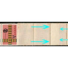1959 GHANA 1/2d Coil strip of 12 with join Mint