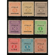 1943 ITALY Allied Military Postage set cv£10.60 VF LMM