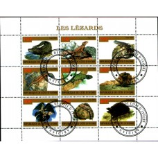 2009 IVORY COAST Lizards miniature sheet VFU