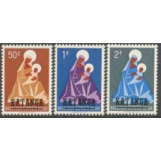 1960 KATANGA Christmas set MNH