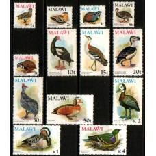 1975 MALAWI Birds Definitive set MNH