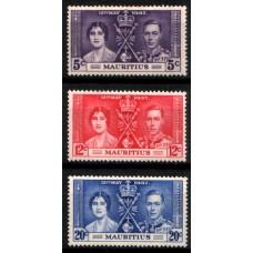 1937 MAURITIUS KGVI Coronation set LMM.