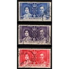 1937 MAURITIUS KGVI Coronation set VFU.