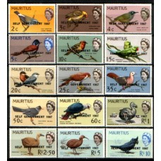1967 MAURITIUS Self Government , Bird present and extinct set MNH