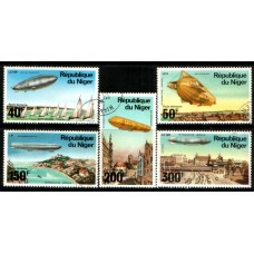 1976 NIGER Zeppelin Airships set VFU.
