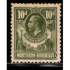 1925 NORTHERN RHODESIA KGV 10d value cv£8.50 LMM
