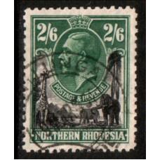 1925 NORTHERN RHODESIA KGV 2s6d value cv£15.00 VFU