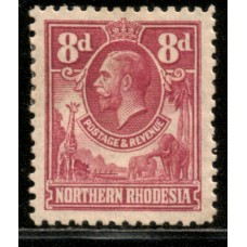 1925 NORTHERN RHODESIA KGV 8d #1 value cv£8.50 LMM