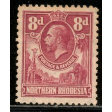 1925 NORTHERN RHODESIA KGV 8d #2 value cv£8.50 LMM