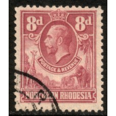 1925 NORTHERN RHODESIA KGV 8d value cv£55.00 VFU