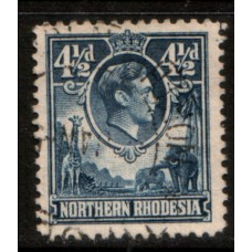 1938 NORTHERN RHODESIA KGVI 4-1/2d value cv£12.00 VFU