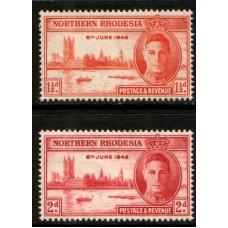 1946 NORTHERN RHODESIA KGVI Victory set. LMM