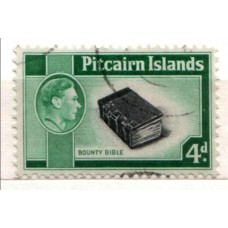 1951 PITCAIRN Is KGVI 4d Bounty Bible VFU